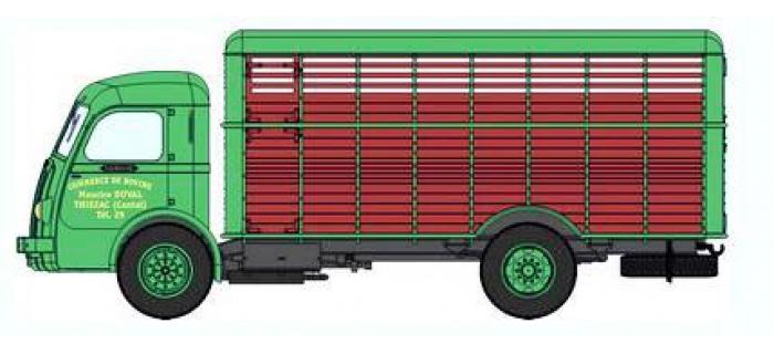 Train électrique :  REE CB-031 - Panhard Movic Bétaillère bicolore Vert et Marron