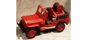 Modélisme ferroviaire : REE CB-086 - Jeep feux de forêt avec Motopompe, bande blanche