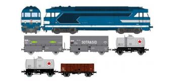 Train électrique : REE CM-001 - BB 67011 CHAMBERY - ANALOGIQUE - + 5 wagons marchandises