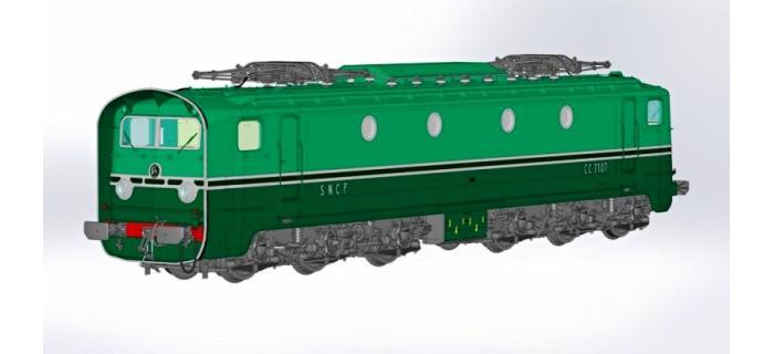 REE CM-004 - Coffret locomotive électrique CC7107 et 3 voitures DEV U46 C10