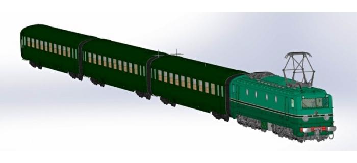 Modélisme ferroviaire : REE CM-004 - Coffret locomotive électrique CC7107 et 3 voitures DEV U46 C10