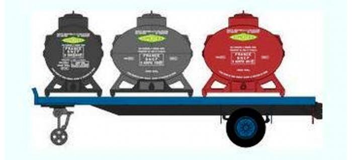 Train électrique : REE FB-004 - Remorque Plateau 3 containers