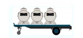 Train électrique : REE FB-005 - Remorque Plateau 3 containers