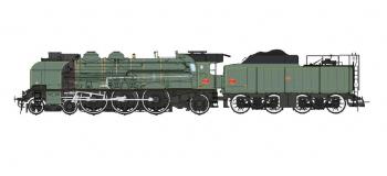 Modélisme ferroviaire : REE MB-004 - Locomotive à vapeur 2-231K 8 NORD, Dépôt de CALAIS