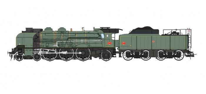 Modélisme ferroviaire : REE MB-004S - Locomotive à vapeur 2-231K 8 NORD, Dépôt de CALAIS
