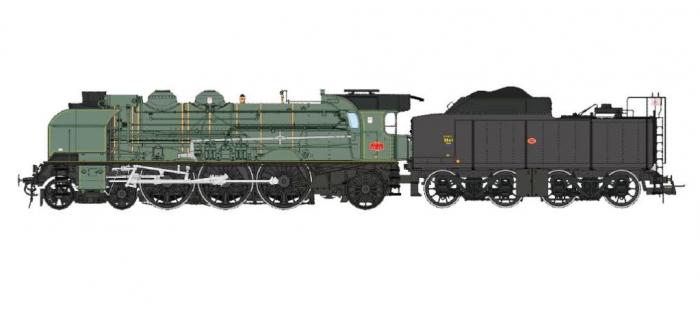 Modélisme ferroviaire : REE Modeles MB - 012 - Locomotive à vapeur 231 ex-PLM Ep.III, Analogique