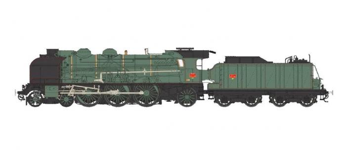 TRAIN ELECTRIQUE REE MB - 015S - Locomotive à vapeur 231 ex-PLM Epoque III, DCC Sonorisée - Fumée Pulsé