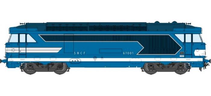 Train électrique : REE OM-005 - Locomotive diesel BB 67037, dépôt de Nîmes - Echelle O
