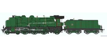 Train électrique : REE Modeles MB-036 - Locomotive à vapeur 231 D 5 - PLM LYON MOUCHE Ep.II, Analogique