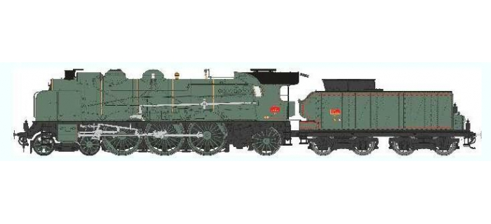 Train électrique : REE Modeles MB-037 SAC - Locomotive à vapeur 5-231 D 71 SNCF LAROCHE, Ep.III, DCC SON, Fumée pulsée 3 rails