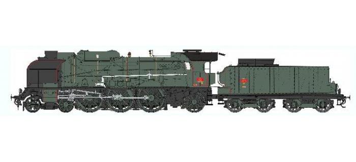 Train électrique : REE Modeles MB-038 SAC - Locomotive à vapeur 5-231 G 18 SNCF NEVERS, Ep.III, DCC SON, Fumée pulsée 3 rails