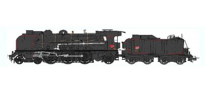 Train électrique : REE Modeles MB-039 SAC - Locomotive à vapeur 1-231 K 28 NANCY - NOIRE, Ep.III, DCC SON, Fumée pulsée 3 rails