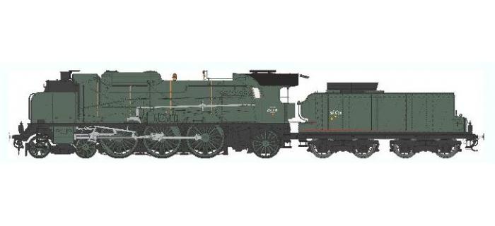 Train électrique : REE Modeles MB-040 S - Locomotive à vapeur 5-231 D 181 - SNCF CLERMONT Ep.III, DCC SON, Fumée pulsée