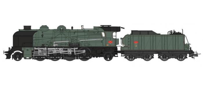 Modélisme ferroviaire : REE Modeles MB - 052S - Locomotive Vapeur 141 ex PLM, dépôt de ALES, DCC Sonorisée