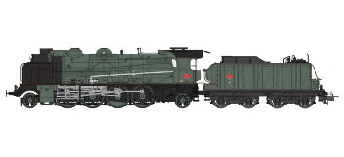 Modélisme ferroviaire : REE Modeles MB - 053S - Locomotive Vapeur 141 ex PLM, dépôt d' ANNEMASSE, DCC Sonorisé