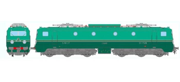 REE MB-055 - Locomotive électrique CC-7128 origine Sud-Est Ep.III dépôt de Lyon-Mouche