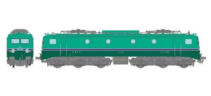 REE MB-061S - Locomotive électrique CC-7132 GRG Ep.IV-V dépôt d'Avignon, DCC, son