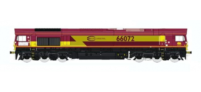 REE MBE-002 - Class 66 Euro Gargo Rail N° 66072 ECR, DCC Sonorisée