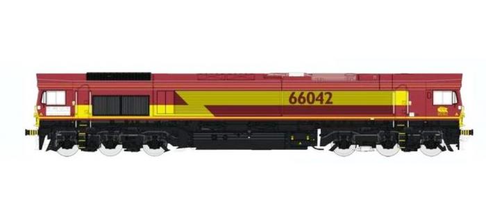 REE MBE-003 - Class 66 Euro Gargo Rail N° 66042 EWSI, DCC Sonorisée