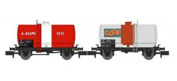 Modélisme ferroviaire : REE NW-043 : Set de 2 wagons Citernes Soudée OCEM 29 Ep.III