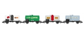 Modélisme ferroviaire : REE NW-046 : Set de 4 wagons Citernes Soudée OCEM 29 Ep.IV