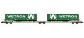 Modélisme ferroviaire : REE NW-091 - Wagon Port-Remorque double Ep.V-VI