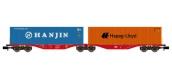 Modélisme ferroviaire : REE NW-095 - Wagon Port-Container double Ep.V-VI