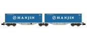Modélisme ferroviaire : REE NW-101 - Wagon Port-Container double Ep.V-VI