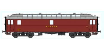 Train électrique : REE VB-046 - Voiture POSTALE OCEM 16 m Ambulant Ep.III B