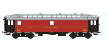 Train électrique : REE VB-050 - Voiture POSTALE OCEM 16 m Ambulant Ep.II - MIDI