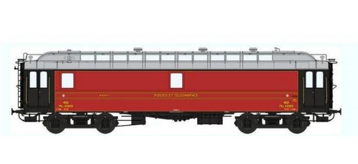 Train électrique : REE VB-051 - Voiture POSTALE OCEM 16 m Ambulant Ep.II - NORD