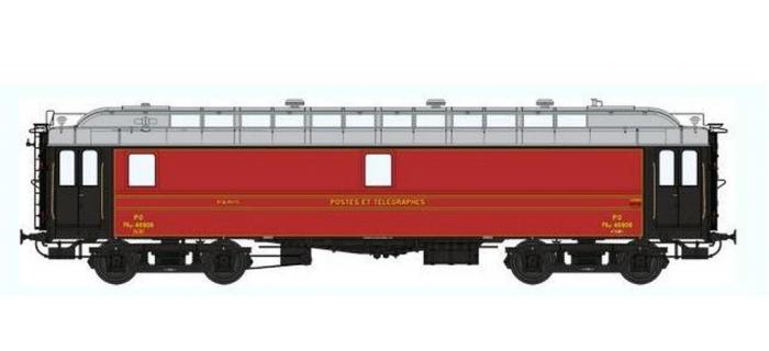 Train électrique : REE VB-051 - REE VB-051 - Voiture POSTALE OCEM 16 m Ambulant Ep.II - PO