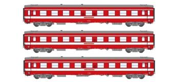 Modélisme ferroviaire : REE VB-118 - Coffret de 3 voitures UIC