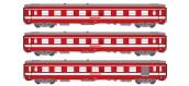 Modélisme ferroviaire : REE VB-119 - Coffret de 3 voitures UIC