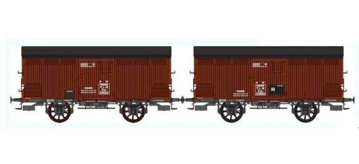 Train électrique : REE WB-294 - Set de 2 Wagons PRIMEUR PLM Type I / Ep.II – PLM