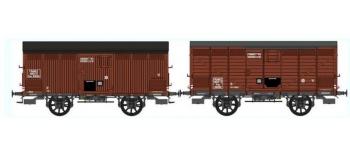 Train électrique : REE WB-296 - Set de 2 Wagons PRIMEUR PLM Type I / Type II - Ep.III A