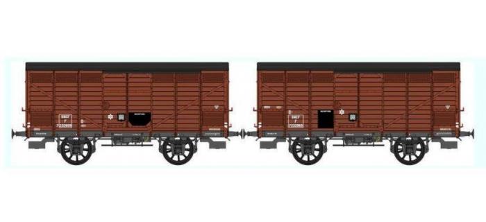 Train électrique : REE WB-297 - Set de 2 Wagons PRIMEUR PLM Type III - Ep.III B