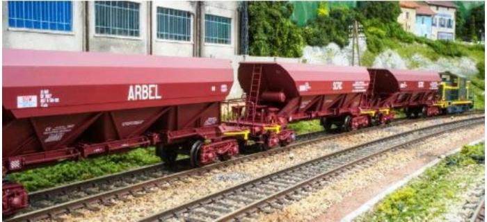 REE WB-304 - Wagon TREMIE EX T1 Ep.IV «DENAIN NORD-EST LONGWY»