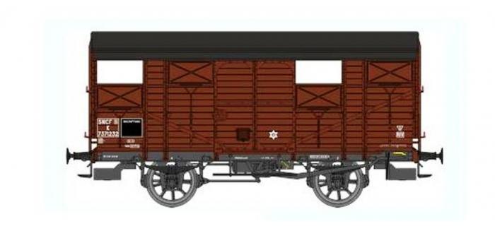 Train électrique : REE WB-303 - Wagon COUVERT 20T PLM Ep.III B