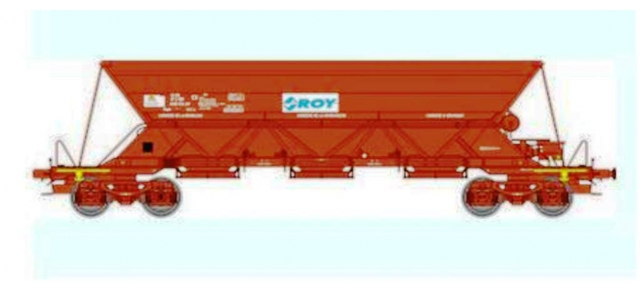 Train électrique : REE WB-306 - Wagon TREMIE EX T1 Ep.V «ROY COLAS RAIL»