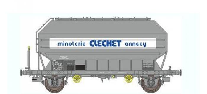 Train électrique :  REE WB-325 - Wagon Céréalier FRANGECO B Ep.IV-V «MINOTERIE CLECHET»