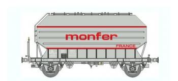 Train électrique :   REE WB-326 - Wagon Céréalier FRANGECO B Ep.IV«MONFER»