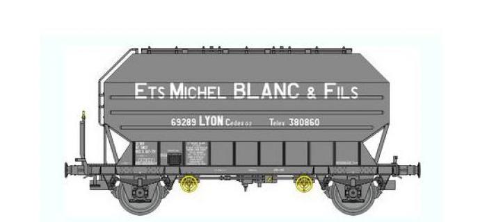 Train électrique : REE WB-328 - Wagon Céréalier FRANGECO B Ep.IV-V «MICHEL BLANC»