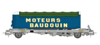 Train électrique : REE WB-337 - Wagon KANGOUROU Ep.III avec remorque
