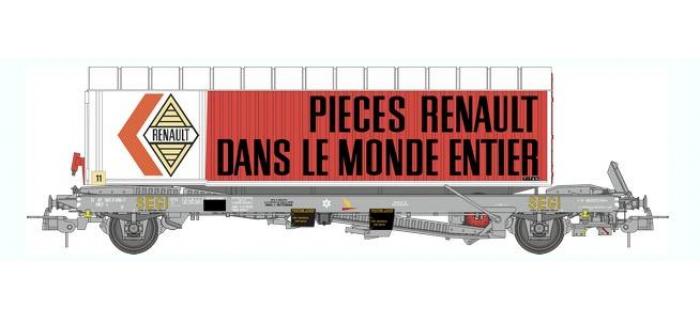 Train électrique : REE WB-348 - Wagon KANGOUROU Ep.IV + Remorque
