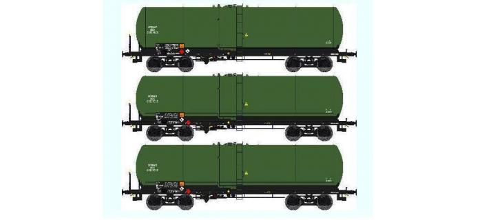 Train électrique : REE WB 409 - Set de 3 Wagons Citernes ANF Ep.V