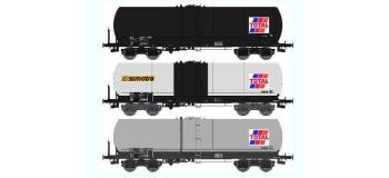 Train électrique : REE WB 410 - Set de 3 Wagons Citernes ANF Ep.V
