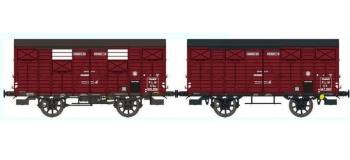 REE WB247 :  Set de 2 Wagons COUVERT OCEM 19 Ep.II – PLM