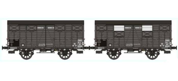 REE WB248 - Set de 2 Wagons COUVERT OCEM 19 Ep.II – AL