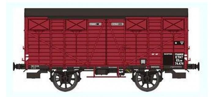REE WB250 - Wagon COUVERT OCEM 19 Ep.II - ETAT